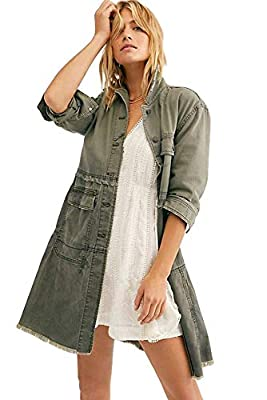 Free People Forever Free Tiered Jacket (Small) Olive from