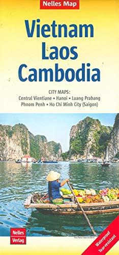 Nelles Map Landkarte Vietnam - Laos - Cambodia: 1:1,5 Mio   reiß- und wasserfest; waterproof and tear-resistant;...