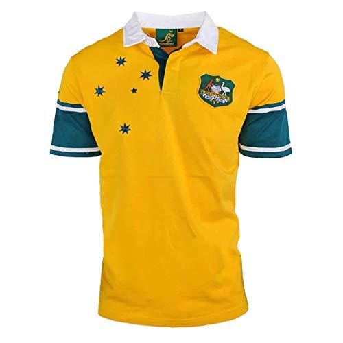 1999 Australien Retro Rugby Jersey, Fans Ausgabe Jersey-Weste-Hemd Sport Fans Polohemd, Supporter Sport Top, bestes Geburtstag-Geschenk XL