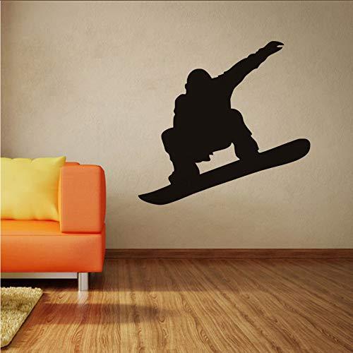 Jukunlun Sport Wallpaper Snowboard Player Silhouette Schwarz Jungen Geschenk Vinyl Pvc Schlafzimmer Sport Center Platz Wandbild Dekor