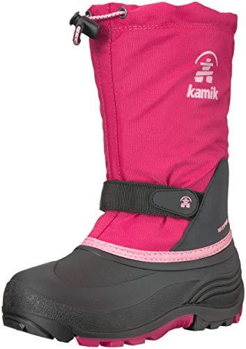 Kamik Girls' WATERBUG5 Snow Boot, Bright Rose, 12 Medium US Little Kid