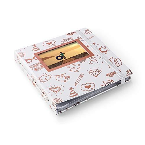 HP Sprocket álbum de Foto y Protector Oro, Blanco - Álbum de fotografía (Oro, Blanco, 126 mm, 18 mm, 11,6 cm, 196,8 mm, 5,08 mm)