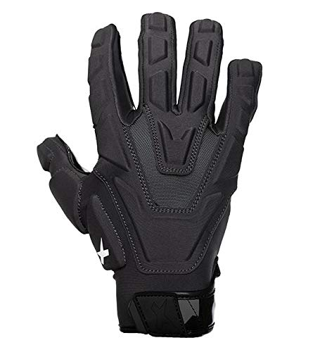 Xenith Football Varsity Padded Lineman Gloves (Black, Large)