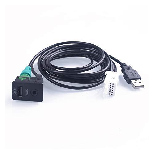Hermoso En Forma for el BMW Serie 3 E87 E90 E91 E92 5 X5 X6 Aux Interruptor Cable Adaptador USB Radio En Conector (Color Name : White)