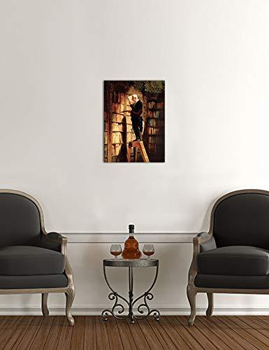 Kunstdruck – Der Bücherwurm – Carl Spitzweg -auf Leinwand - 3