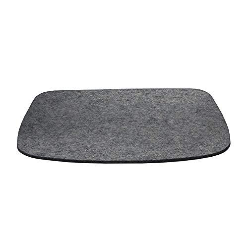 Hey Sign Eames Plastic Armchair Sitzauflage, anthrazit Filz in 5mm Stärke LxBxH 37x35x0,5cm antirutsch
