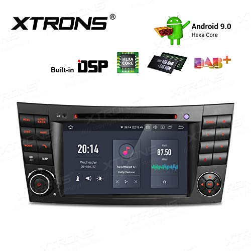 "XTRONS 7\"" 4GB RAM 64GB ROM 6 Core Android 9.0 Autoradio mit Touchscreen Auto DVD Player Hexa Core Autostereo unterstützt 4K Video Bluetooth OBD2 TPMS FÜR Mercedes Benz W211 (Autoradio mit DSP)"