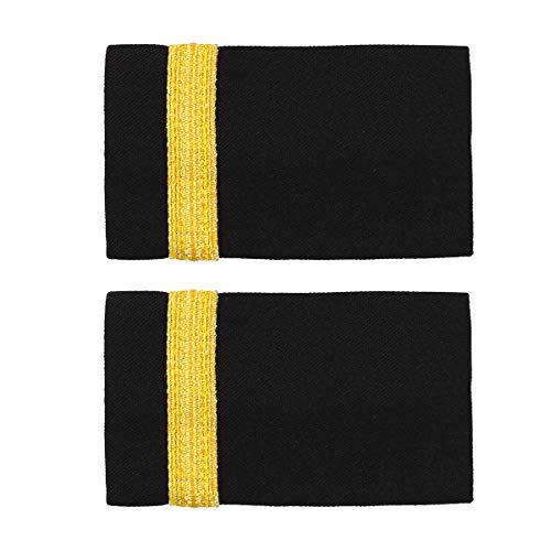 inhzoy Schulterklappen Herren Pilot Kapitän Marine Epauletten Professionelle Fluggesellschaft Uniform Schulterriegel Zubehör One Bar One Size