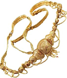 Stylish Traditional Gold Plated Kamar Patta/KamarBand/Waist Belt/Belly Chain for Women and Girls - with Beautiful Design