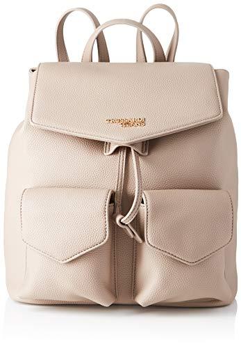 Trussardi Jeans Charlotte Backpack Md Tumbled, Zaino Donna, Marrone (Taupe), 33x15x27 cm (W x H x L)