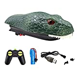 MSLAN Remote Control Boats Snake for Pools and Lakes, 2.4G High-Speed Simulation Snake Head Water Toys, Waterproof Prank Toy for Pools and Lakes, Floating Snake Head