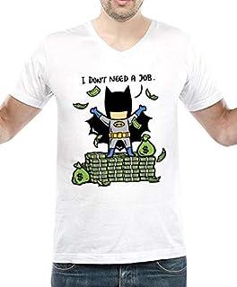 IngraveIT Cotton V Neck T-Shirt For Men
