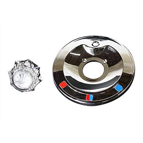 4402601 kit de ajuste de manija única para bañera Delta con desviador y agujero de botón, mango acrílico…