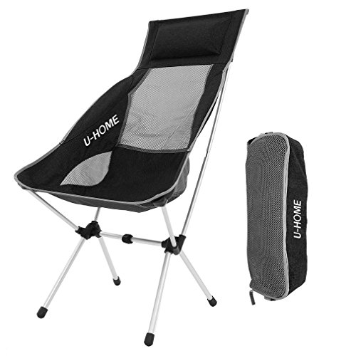 U-HOME Chaise Chair, Folding Outdoor Chaise Lounge Chair Large Portable Aluminum Foldable Chaise Chair pour Bench, Lawn et Camping