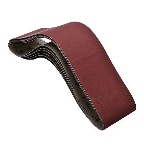 Hochkornsandpapier Sanding Zubehör 6Pcs 915x100mm Schleifbänder Schleifschleifband 400 Grit for Bandschleifer Werkzeuge Holzweichmetall Schleifen Polieren