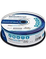 MediaRange - BLU-Ray Disc BD-r DL, 50 GB / 270 min, 6X, Full Printable, 25 Piezas en Caja