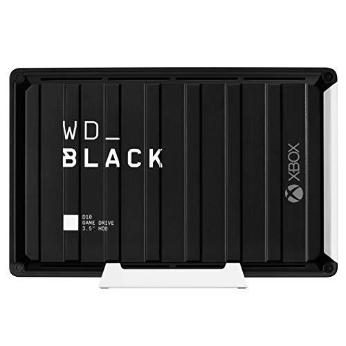 WD_BLACK 12TB D10 Game Drive for Xbox One 7200RPM With Active Cooling To Store Your Massive Xbox Game Collection