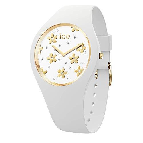 Ice-Watch - ICE flower Precious white - Reloj bianco para Mujer con Correa de silicona - 016667 (Medium)