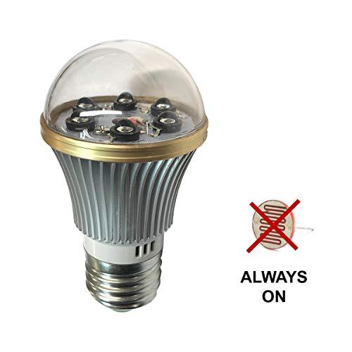 Total Invisible Super Wide 940nM IR Light Bulb Lamp (6 High Power LED illuminators) 20ft Range, 160 deg, 120VAC