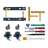 Mcbazel 18 en 1 Kit de Reparación de Repuesto para NS Switch Joy-Con con kit de Destornilladores, Joysticks Analógicos 3D izquierdo-derecho, Bloqueo de hebilla Estuche de accesorios