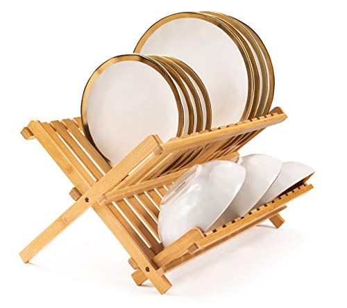Bellemain Folding Bamboo Dish Drying Rack