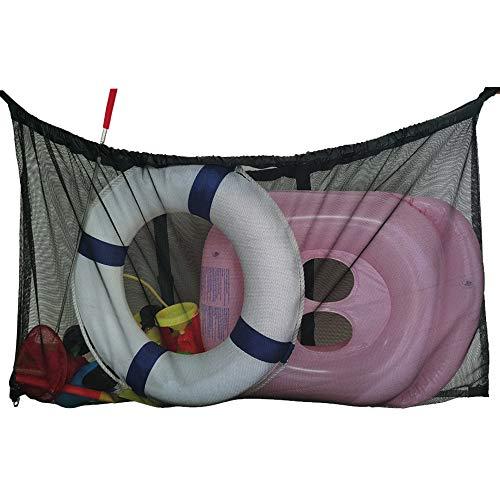 I-GIFT Große Pool-Aufbewahrungstasche über dem Boden, 132 x 78 cm, für Spielzeug, Schwimmer, Strandbälle, Nudeln, Behälter, schwarz
