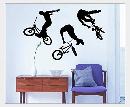 Pegatinas De Pared Bicicleta Personalidad Pegatinas de pared Sala de estudio Sala de estar Dormitorio Sofá Fondo Decoración de la pared 55 * 88Cm