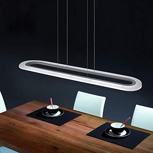 ZMH LED Pendelleuchte 37W Hängelampe esstisch Büro leuchte Hängeleuchte Pendellampe Esstischlampe dimmbar farbwechsel mit Fernbedienung Panelleuchte für Arbeitszimmer, Küchen