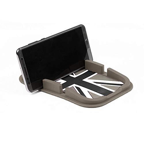 QIDIAN Alfombrilla antideslizante para salpicadero de coche con teléfono móvil para Mini...