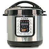KAPAS Smart Electric Pressure Cooker, 6.4 Qt 10-in-1 Multi-Use Cooker with Cooking Accessory for Rice,...