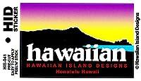 HID ハワイアン ステッカー デカール(ダイアモンドヘッド-ハワイ) ハワイアン雑貨 ハワイ 雑貨 お土産 (パープル)