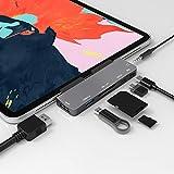 7-1 USB C ハブ iPad Pro 2018 2019 2020 ハブ 固定装置 特别版 Type-c hub 4K HDMI 出力 Thunderbolt/PD 充電/ USB3.0/ microSD/SD カードリーダー ポート3.5mm ヘッドホンジャック タイプ C HDMI 変換 アダプタ Macbook pro/SAMSUNG/Huawei Mate等対応