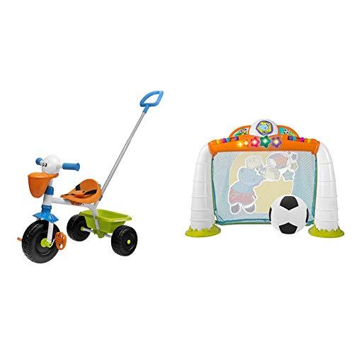 Chicco Triciclo Bambini Pellicano, Triciclo Bimba E Bimbo Con Maniglione Ad Altezza Regolabile & Gioco Porta Calcio Fit&Amp;Fun, 2-5 Anni