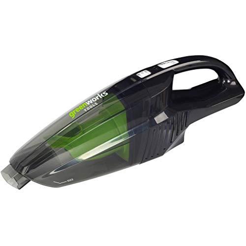 Greenworks Akku-Handstaubsauger G24HV (Li-Ion 24 V 2 Geschwindigkeitsstufen 2-Filtersystem für Nass- und Trockeneinsatz ohne Akku und Ladegerät)