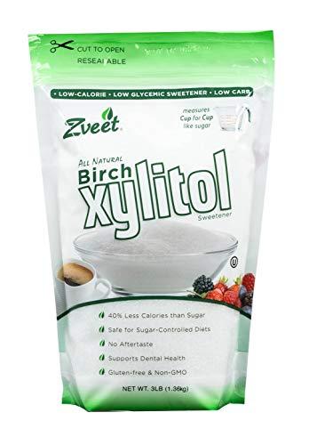 Zveet Birch Xylitol Sweetener (Made in USA) (3 LB)