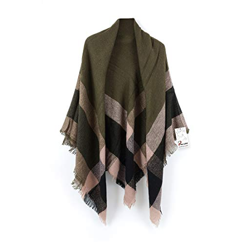 Women's Cozy Tartan Plaid Scarf Tassel Shawl Warm Checked...