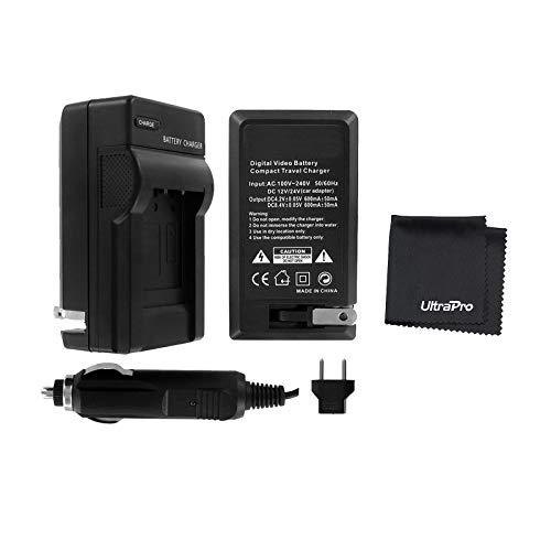 UltraPro Nikon Z6, Z7, D7500, D7200, D7100, D7000, D780, D850, D810A, D810, D800E, D800, D750, D610 Digital Camera Replacement Battery Charger for Nikon EN-EL15 Battery (100/240v w/Car & EU adapters)