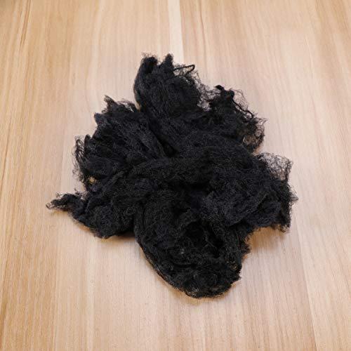 SOLUSTRE Elastyczność siatek do włosów, niewidoczna elastyczna siatka na włosy, bułki, tancerka, kuchnia, seria artykułów spożywczych (100 szt. czarna)