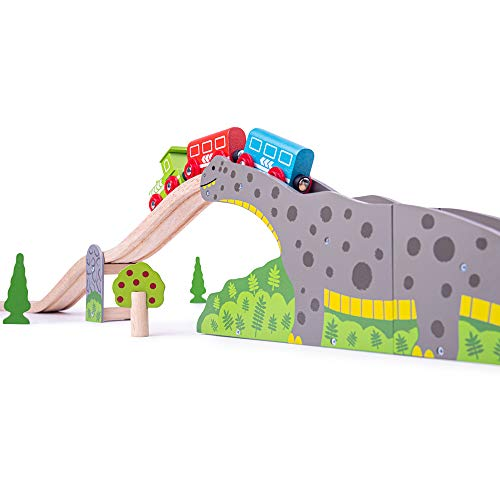 Bigjigs Rail Wooden Bronto Riser - Other Major Wood Rail Brands are Compatible