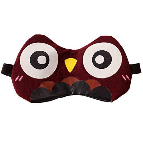 Preisvergleich Produktbild IMSHIE Schlafaugenmaske,  Schlafmaske,  Cartoon-Muster Lustige Schlafaugenmaske aus Baumwolle,  Schattierung atmungsaktiv,  Schlafmaske für Yoga,  Meditation,  Männer,  Frauen