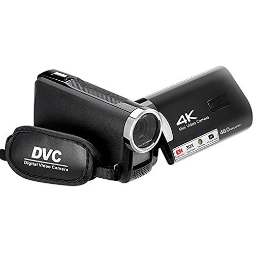 Mini cámara, videocopia 4k Video Cámara de Video Visión Nocturna Vlogging Cámara Grabadora 3.0 Pulgadas IPS Pantalla 30X Cámaras de Zoom Digital -Record Vida Ahora