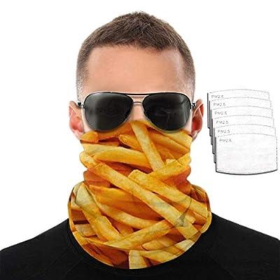 Mamihong Masque Facial Unisexe Frites avec 6 filtres, Cagoule de Protection UV, écharpe Bandana Anti-poussière