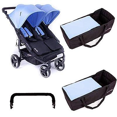 Baby Monsters-Silla Gemelar Easy Twin 3.0S + capazos blandos + Regalo Barra Protectora
