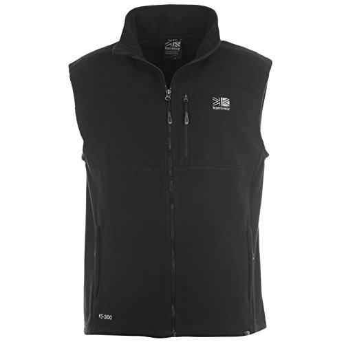 Karrimor Mens Sleeveless Zip Fastening Waist Length Top Jacket Fleece Gilet Black Large