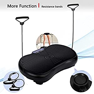 WelKare Full Body Vibration Machine Exercise, Body Vibration Platform Exercise Machine for Home Workout Vibrating Plate with Pull Up Bands