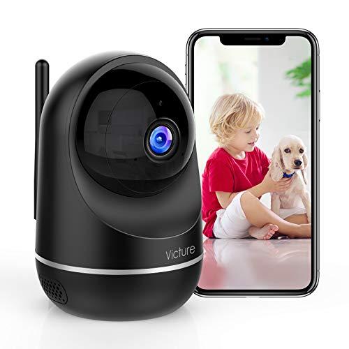 Victure Dualband WLAN Kamera, 2,4Ghz und 5Ghz Wi-Fi,Baby Kamera,1080P Überwachungskamera WLAN,Babyphone mit Kamera, Pan Tilt, 2-Wege-Audio, IR Nachtsicht-Schwarz