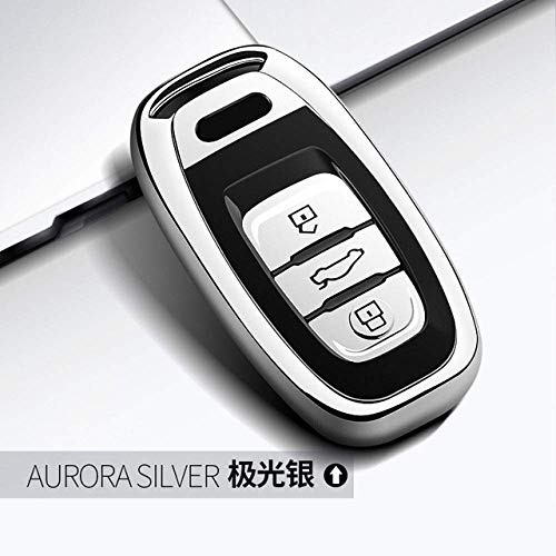 Schlüsselkasten, TPU Auto-Schlüssel-Fall passen Abdeckungs-Beutel for Audi Q5 A4 A5 A6 A7 A8 S5 S6 S7 S8 Smart Remote Fobs Abdeckung Bag Schlüsselanhänger Au WKY