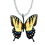 d'ears Tiger Swallowtail Butterfly-Shaped Necklace Stainless Steel 18
