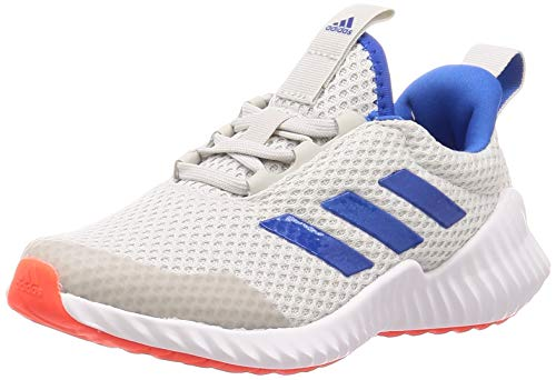 adidas Unisex-Child Fortarun Road Running Shoe, Grey/Glory Blue/Solar Red, 34 EU