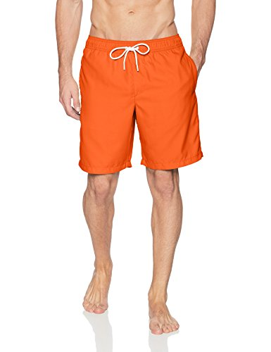 Amazon Essentials Men#039s QuickDry 9quot Swim Trunk Orange Medium